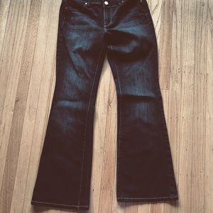 WHBM black flare leg jeans - 4